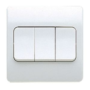 View MK 3-Gang 2-Way 10A White Triple Light Switch details