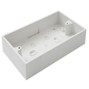 MK Plastic Double Pattress Box
