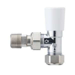 View Honeywell White & Chrome Effect Angled Lockshield details
