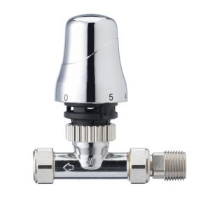 View Honeywell & Chrome Effect Straight Thermostatic Radiator Valve details