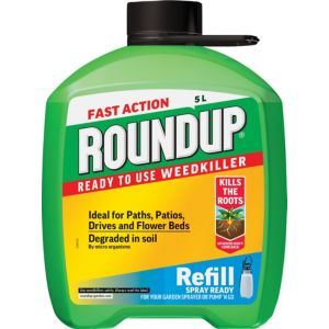 Image of Roundup Fast Action Ready to Use Weed Killer 5L 5.30kg