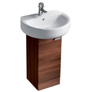 View Ideal Standard Senses Dark Walnut Effect Basin with Pedestal Basin Unit details