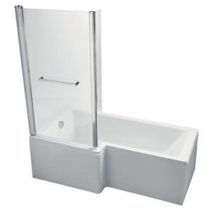 Ideal Standard Imagine LH Acrylic Rectangular Shower Bath  Front  Panel & Screen (L)1700mm (W)700mm
