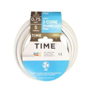View Tower White PVC Cable 240V 6A 2-Core 0.75mm� - 5m details