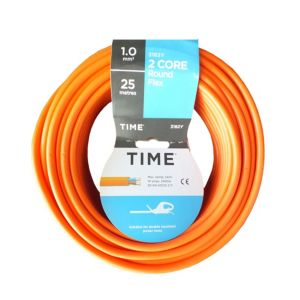 Image of Time 2 Core Round Flexible Cable 1.0mm² 3182Y Orange 25m
