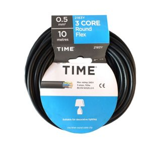 View Tower Black PVC Cable 240V 3A 3-Core 0.5mm� - 10m details