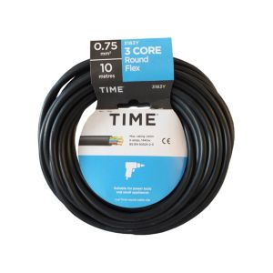 View Tower Black PVC Cable 240V 6A 3-Core 0.75mm� - 10m details