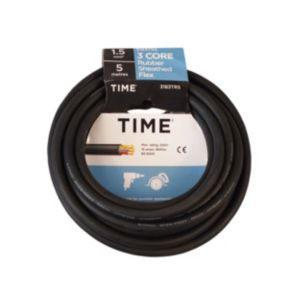 View Tower Black Rubber Cable 240V 16A 3-Core 1.5mm� - 5m details