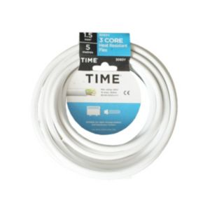View Tower White PVC Heat Resistant Cable 240V 16A 3-Core 1.5mm� - 5m details