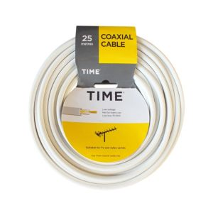 View Tower White Coaxial Cable, (L)25m details