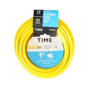 Image of Time 3 Core Arctic Flexible Cable 1.5mm² 3183YA Yellow 10m