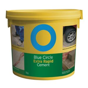 Image of Blue Circle Extra Rapid Cement 5kg Resealable plastic tub