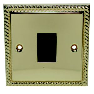 View Holder 1-Gang 2-Way 10AX Brass Effect Single Light Switch details