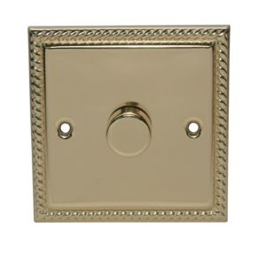 View Volex Brass Effect 1-Gang Rotary On/Off with Rotary Dimming 400W Dimmer Switch details