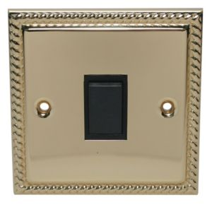 View Volex Brass Effect Rocker Single Light Switch 1-Gang 2-Way SP 10AX details
