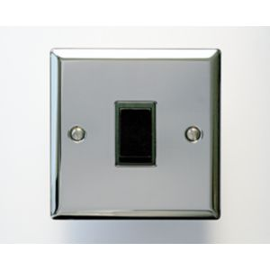 View Holder 1-Gang 2-Way 10AX Chrome Effect Single Light Switch details