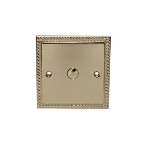 View Volex 1-Gang 1-Way Brass Effect Single Touch Dimmer Switch details