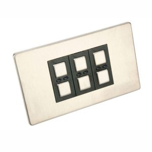View Siemens 3-Gang 1-Way Stainless Steel Effect Dimmer Switch details