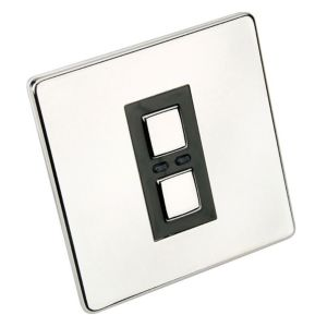 View Siemens 1-Gang 2-Way Polished Chrome Effect Switch details
