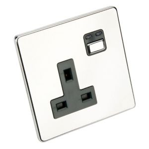 View Siemens 13A 1-Gang Chrome Effect Switched Remote Control Socket details
