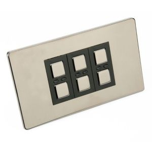 View Siemens 3-Gang 1-Way Black Dimmer Switch details