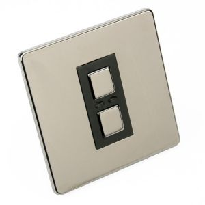 View Siemens Nickel Push Button Switch LED Lights To Show On/Off Status 1-Gang 2-Way details