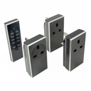 View Siemens Black Remote Control Plug Socket, Pack of 3 details