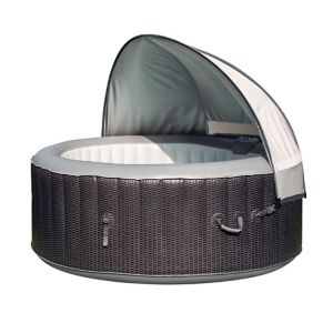 Image of CleverSpa Grey Polyester 4 person canopy