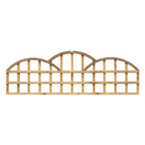 View Traditional Timber Triple Dome Trellis Panel (H)610mm (W)1.83m details