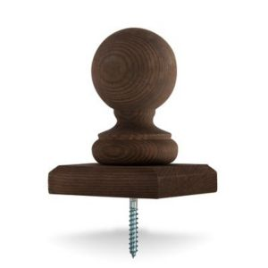 View Ball Brown Softwood Post Cap, (W)100mm (H)100mm details