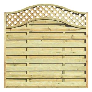 View Green Woodbury Timber Fence Panel (W)1.8m (H)1.8m, Pack of 3 details