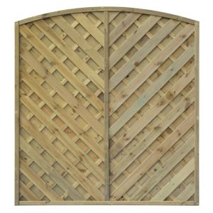 View Green St Lunair Timber Fence Panel (W)1.8m (H)1.8m, Pack of 5 details