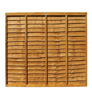 View Professional Timber Overlap Fence Panel (W)1.83m (H)1.8m, Pack of 3 details