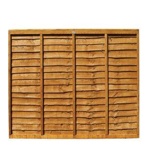 View Professional Timber Overlap Fence Panel (W)1.83m (H)1.5m, Pack of 3 details