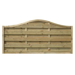 View Green Woodbury Timber Fence Panel (W)1.8m (H)900mm, Pack of 3 details