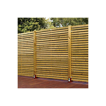 Contemporary Slatted Fence Panel W 1 79mm H 1 793mm