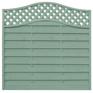 View Green Woodbury Timber Fence Panel (W)1.8m (H)1.8m, Pack of 5 details