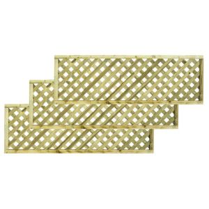 Woodbury Timber Square Trellis Panel (H)1.8M(W)0.6 M  Pack of 3