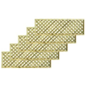 Woodbury Timber Square Trellis Panel (H)1.8M(W)0.6 M  Pack of 5