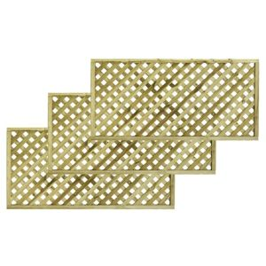 Woodbury Timber Square Trellis Panel (H)1.8M(W)0.9 M  Pack of 3