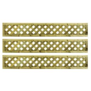 Woodbury Timber Square Trellis Panel (H)1.8M(W)0.3 M  Pack of 3
