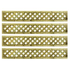 Woodbury Timber Square Trellis Panel (H)1.8M(W)0.3 M  Pack of 4