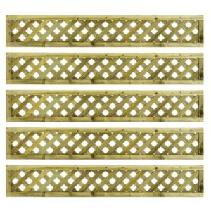 Woodbury Timber Square Trellis Panel (H)1.8M(W)0.3 M  Pack of 5