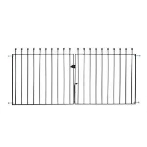 Image of Metpost Metal Ball top Gate (H)0.9m (W)0.14 m