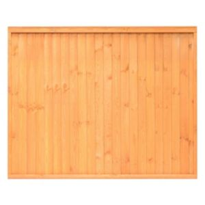 Image of Grange Closeboard Traditional Vertical slat Fence panel (W)1.83 m (H)1.8m Pack of 5
