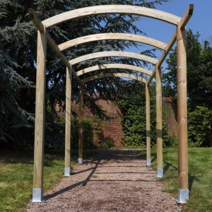 Grange Colonnade Sage Green Wooden Pergola