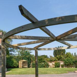 Grange Carousel Sage Green Wooden Pergola
