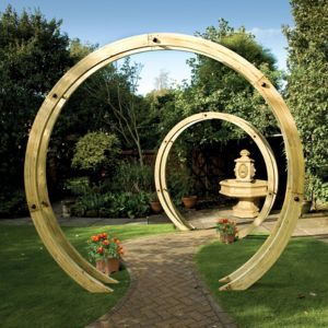 Grange Flower circle Freestanding Natural Flower circle pergola