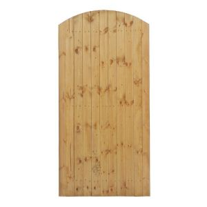 View Grange Timber Side Entry Arched Gate (H)1.8m (W)0.9m details