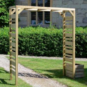 Urban Wooden Garden Arch